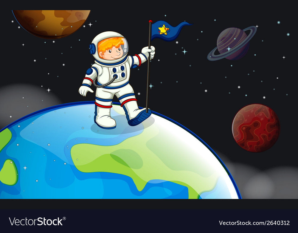 A man in the outerspace vector | Price: 3 Credit (USD $3)
