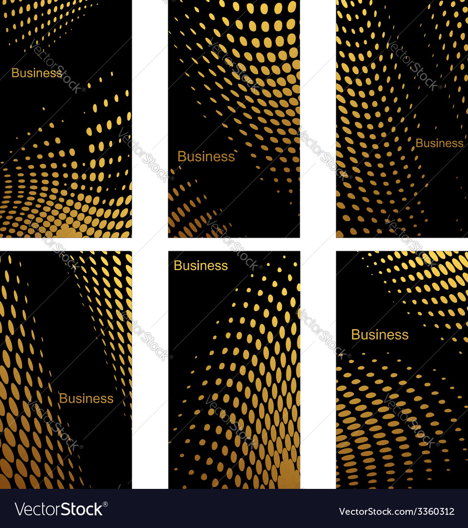 Business cards design with golden dots vector | Price: 1 Credit (USD $1)