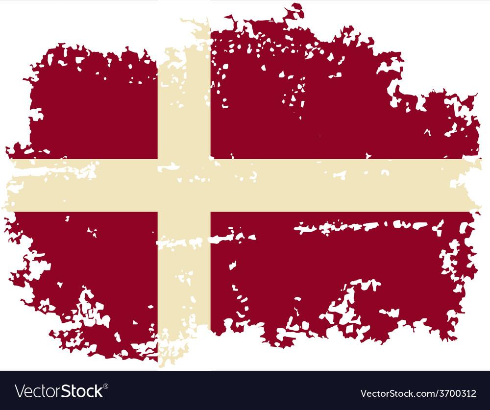 Danish grunge flag vector | Price: 1 Credit (USD $1)