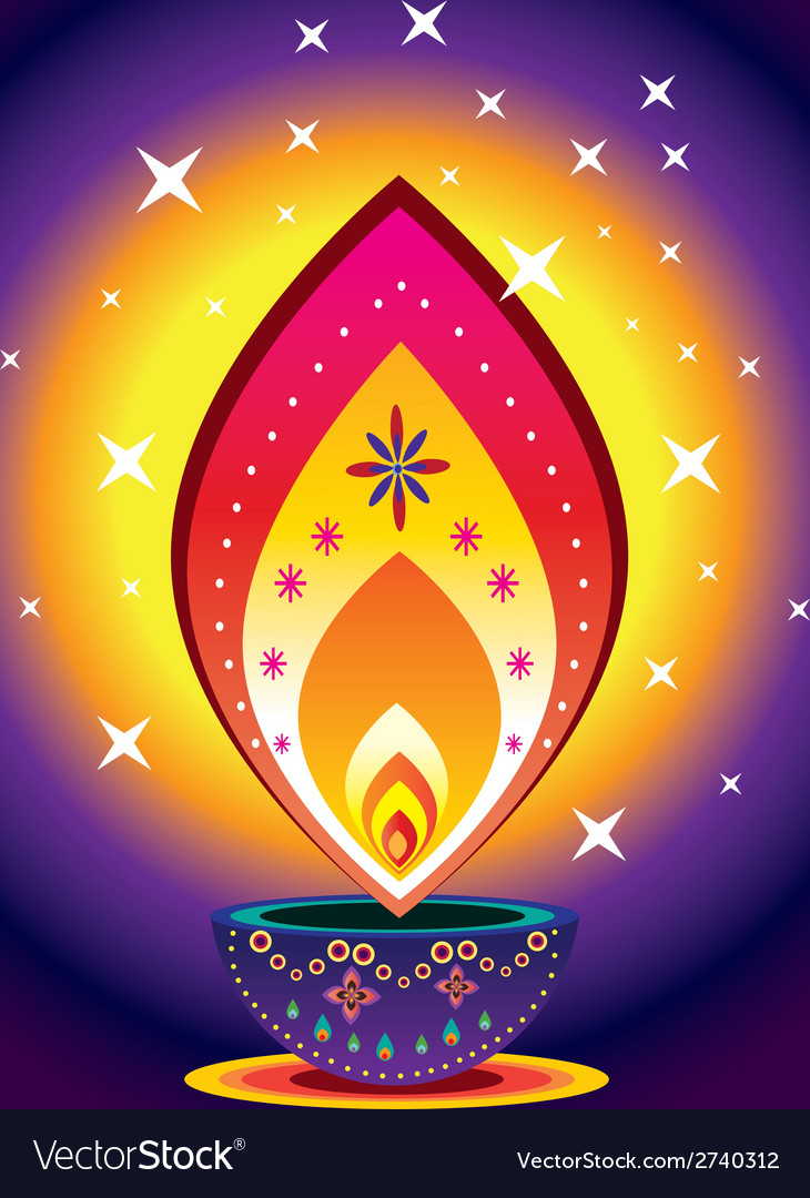 Diwali candle light vector | Price: 1 Credit (USD $1)