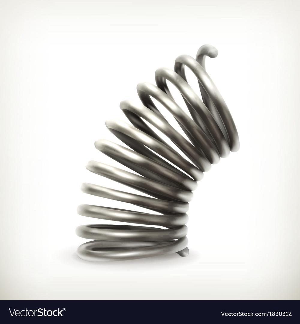 Elastic metal spring vector | Price: 1 Credit (USD $1)