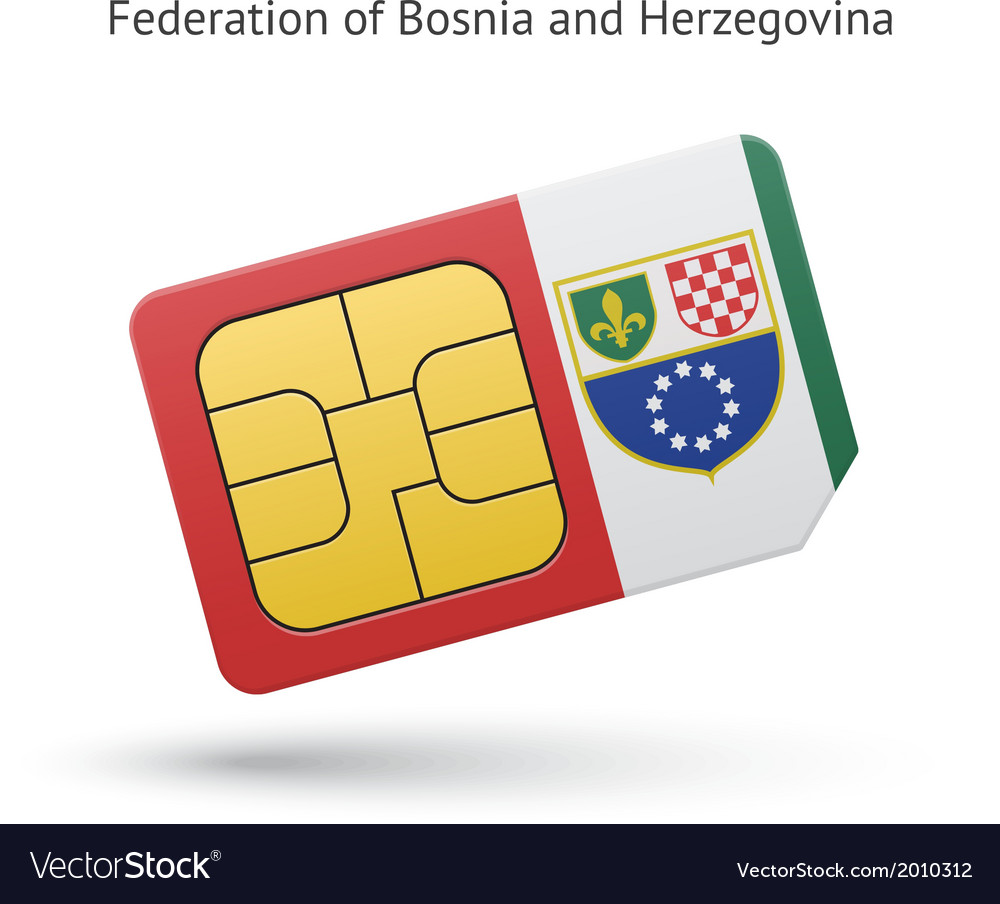 Federation of bosnia and herzegovina phone sim vector | Price: 1 Credit (USD $1)