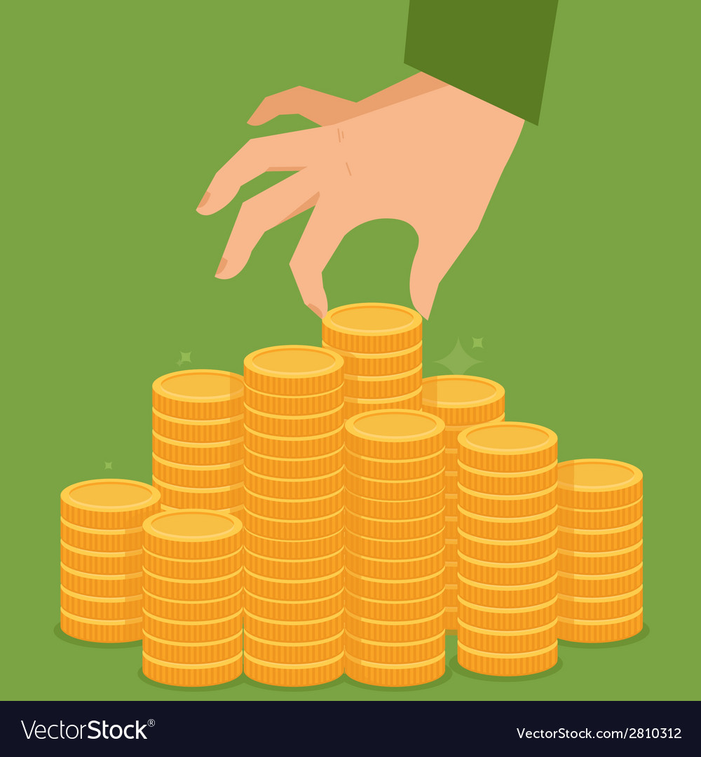 Finance concept in flat style vector | Price: 1 Credit (USD $1)