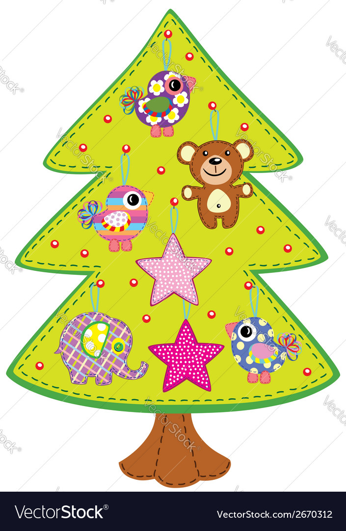 Handmade christmas tree vector | Price: 1 Credit (USD $1)