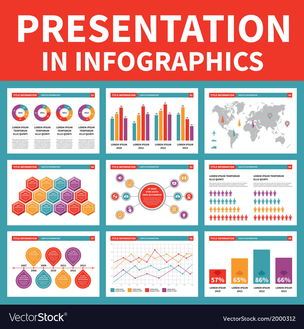 Presentation in infographic - vector | Price: 1 Credit (USD $1)