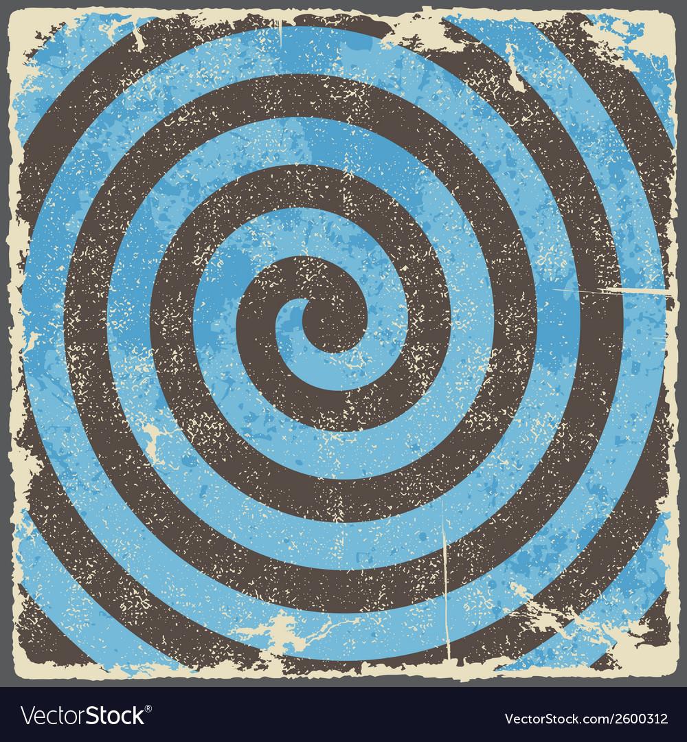 Retro vintage grunge spiral background vector | Price: 1 Credit (USD $1)