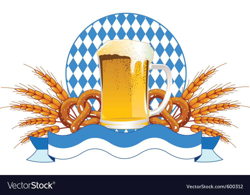 Round oktoberfest celebration design with beer and vector | Price: 1 Credit (USD $1)