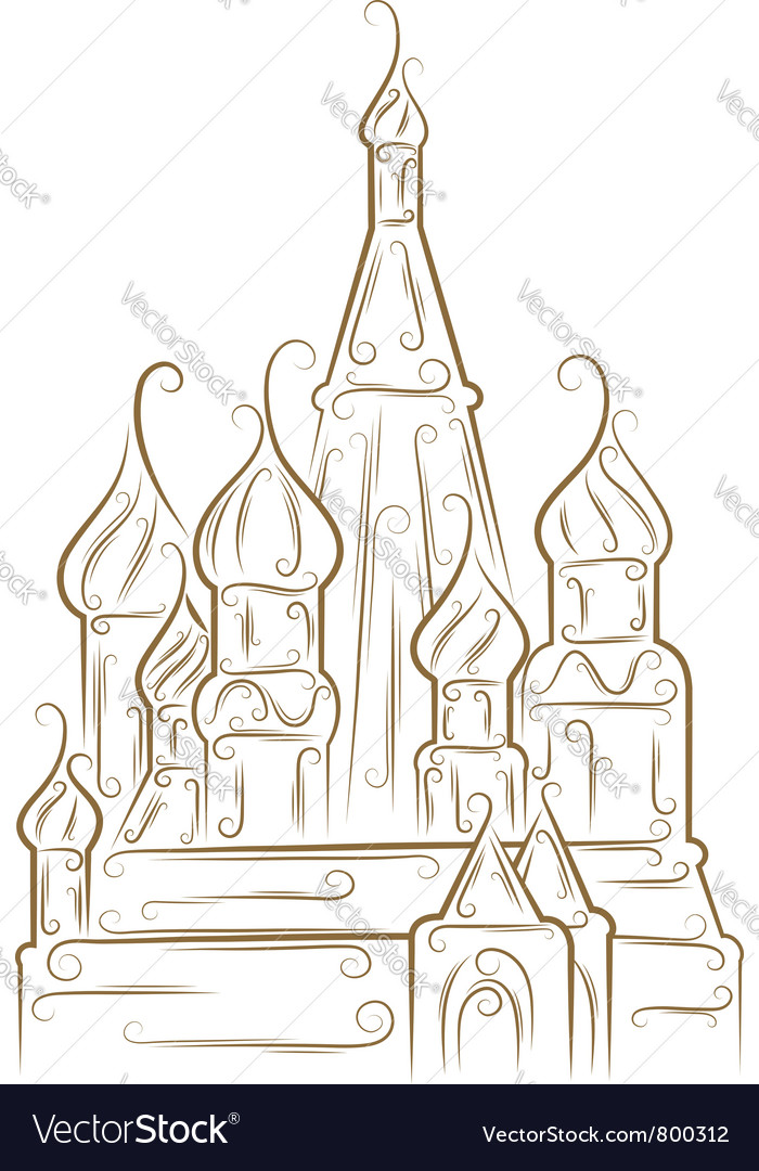 Saint basils cathedral vector | Price: 1 Credit (USD $1)