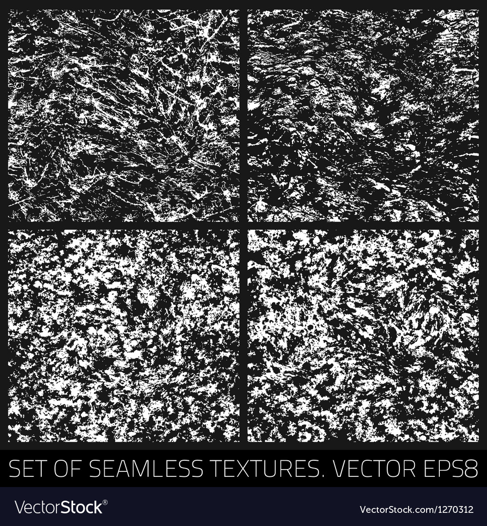 Set of seamless textures vector