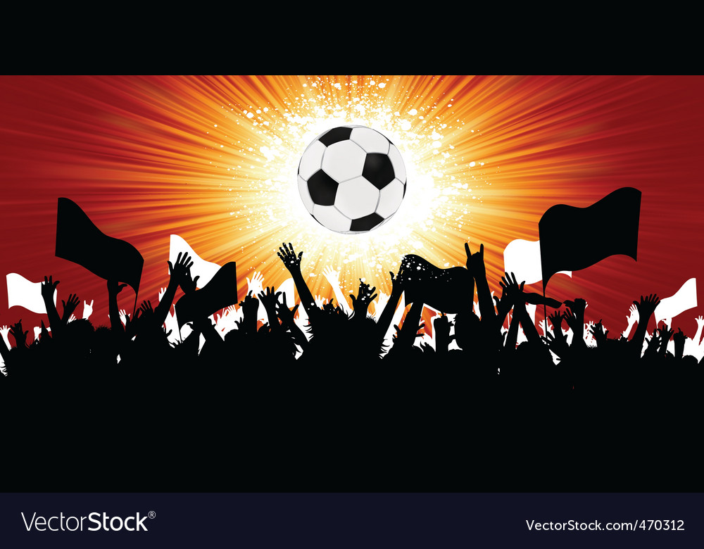 Soccer fans vector | Price: 1 Credit (USD $1)