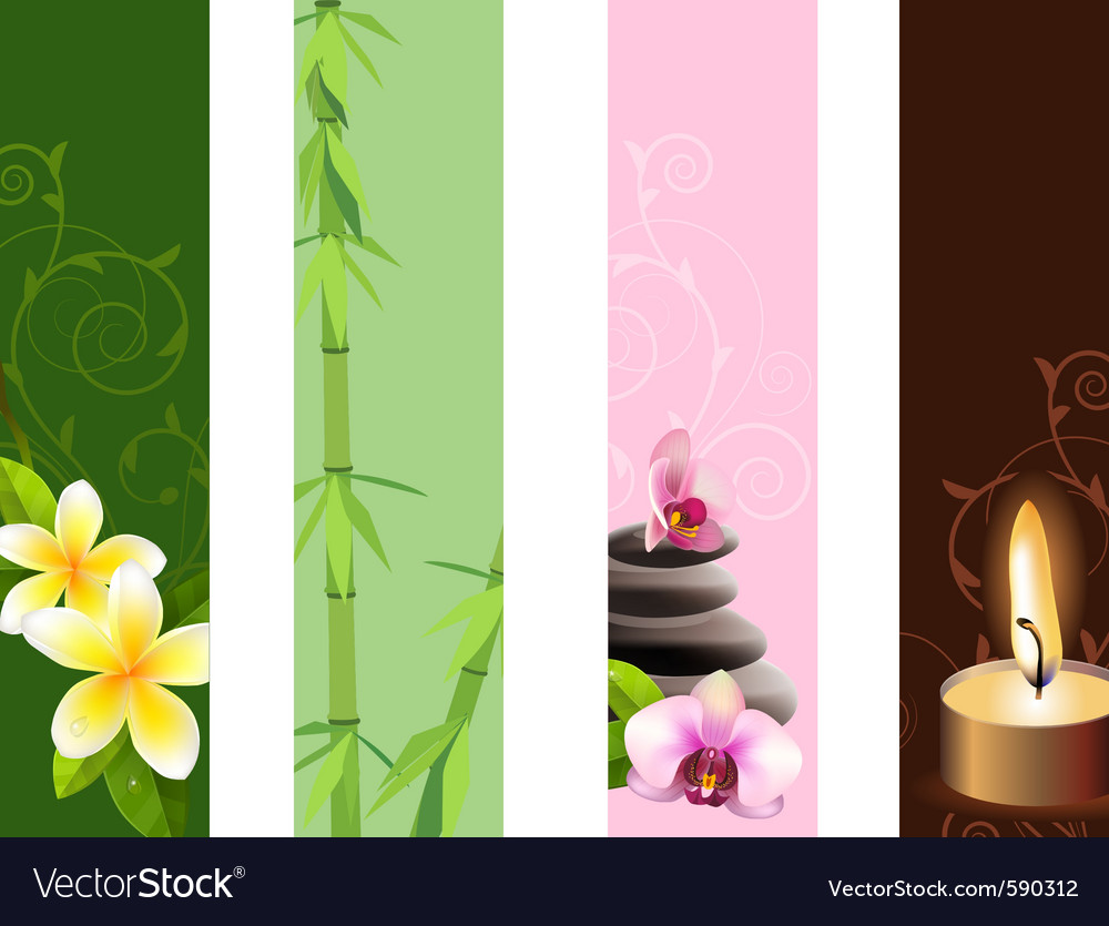 Vertical spa banners vector | Price: 1 Credit (USD $1)