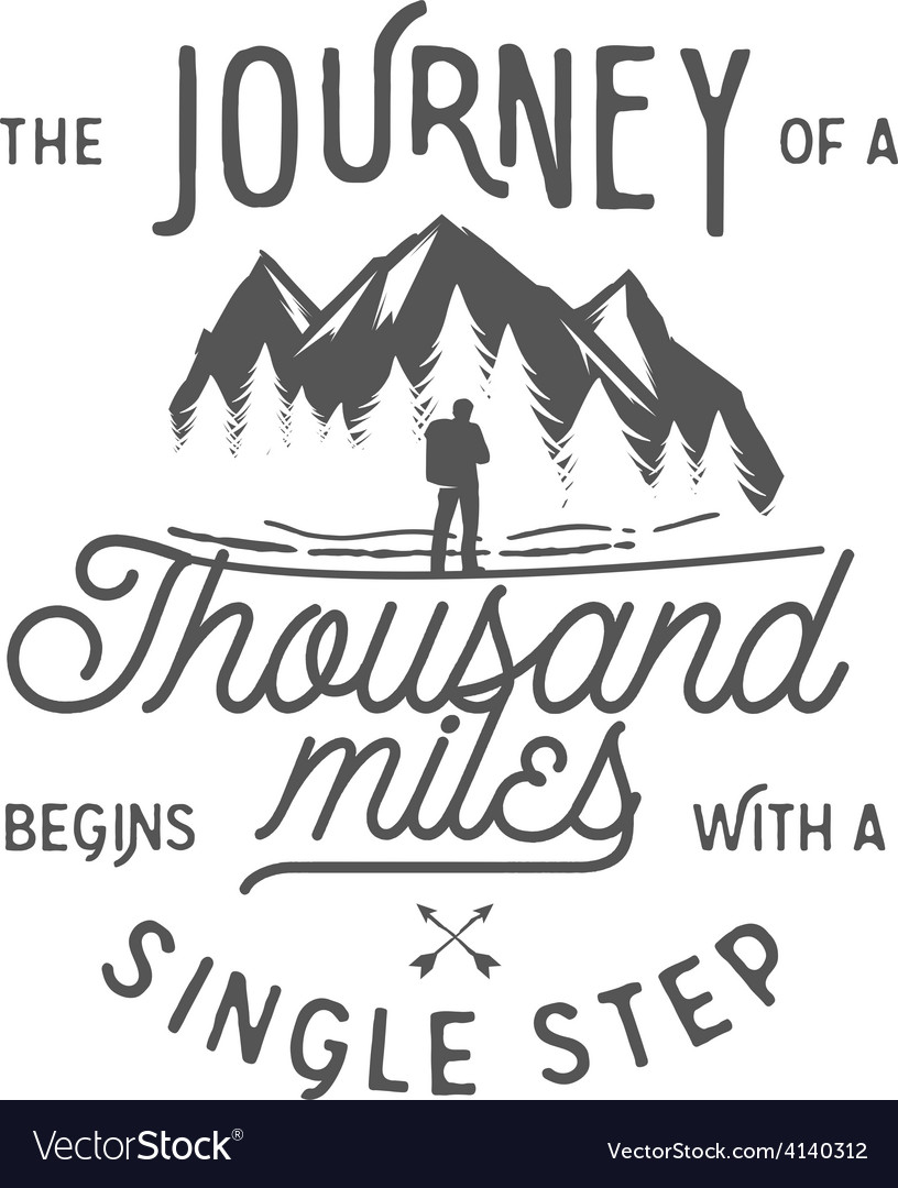 Wilderness quote typographic emblem vector | Price: 1 Credit (USD $1)