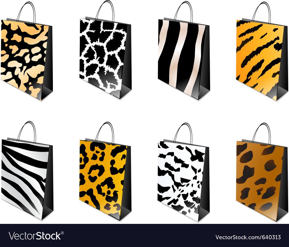 Animal print shopping bag vector | Price: 1 Credit (USD $1)