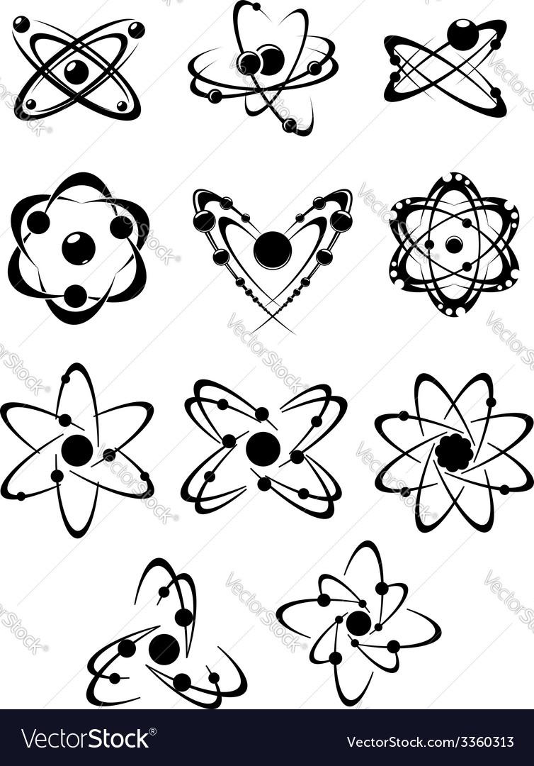 Atoms or molecules symbols vector | Price: 1 Credit (USD $1)