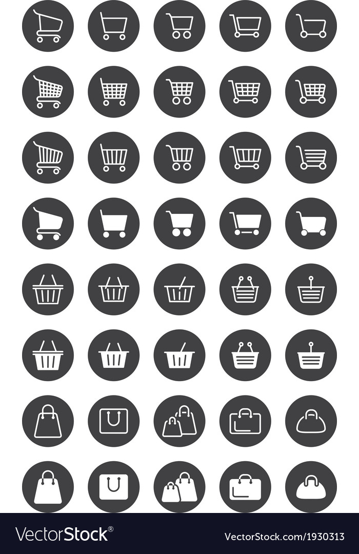 Basket icons vector | Price: 1 Credit (USD $1)