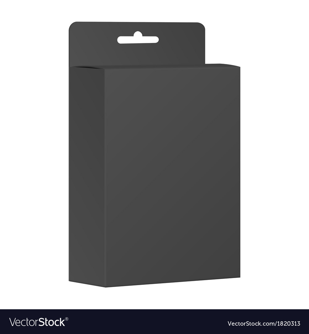 Blank black product package box vector | Price: 1 Credit (USD $1)