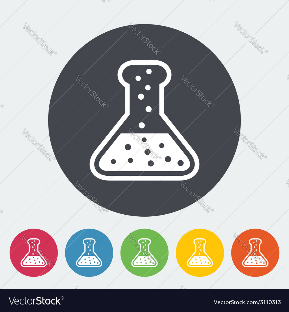 Chemisty flat icon vector | Price: 1 Credit (USD $1)