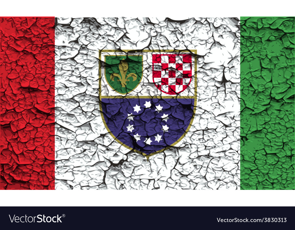 Flag of bosnia and herzegovina federation with old vector   Price: 1 Credit (USD $1)