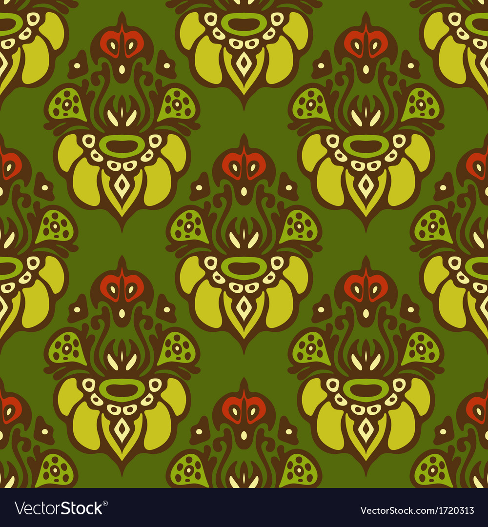 Holiday seamless pattern vintage vector | Price: 1 Credit (USD $1)