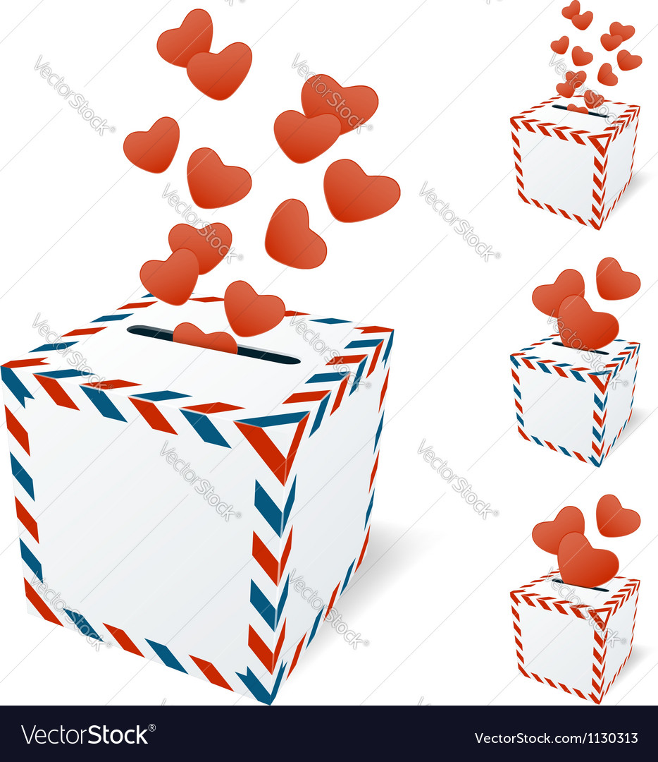 Love letterbox vector | Price: 1 Credit (USD $1)