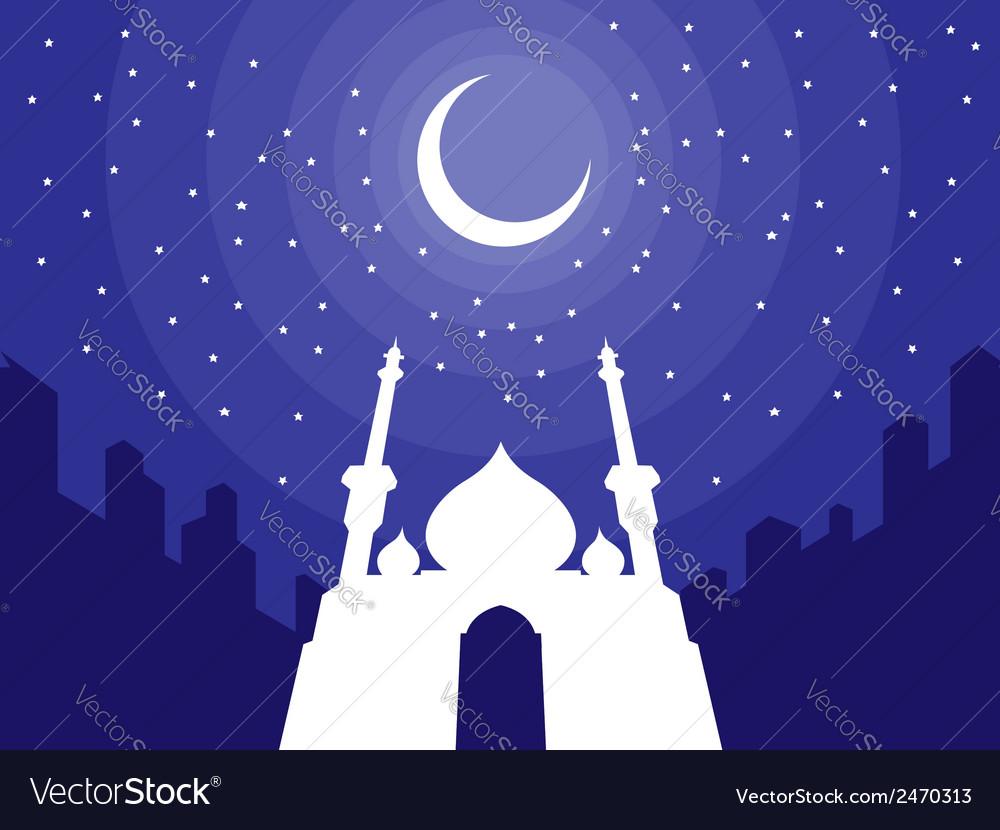 Ramadan eid mubarak greeting 3 vector | Price: 1 Credit (USD $1)