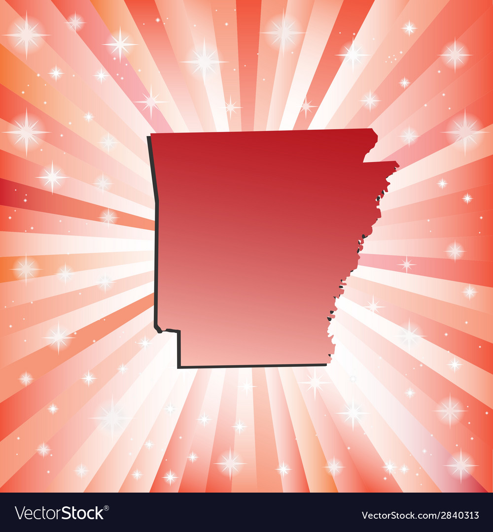 Red arkansas vector | Price: 1 Credit (USD $1)