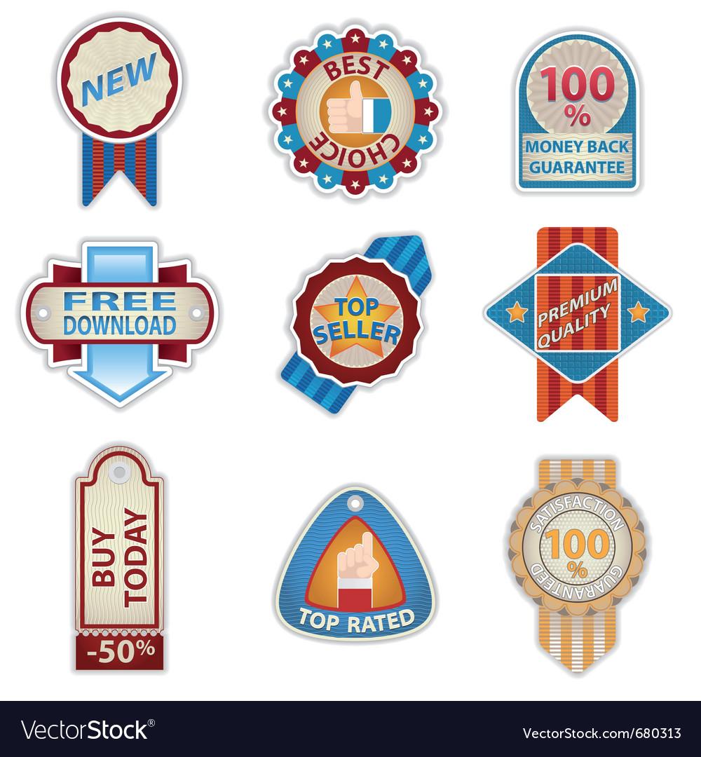 Retro vintage badges vector | Price: 3 Credit (USD $3)