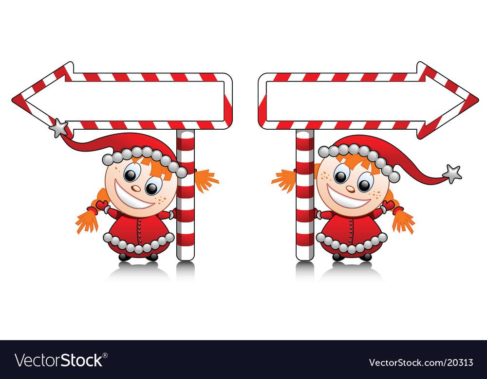 Santa's little helpers vector | Price: 1 Credit (USD $1)