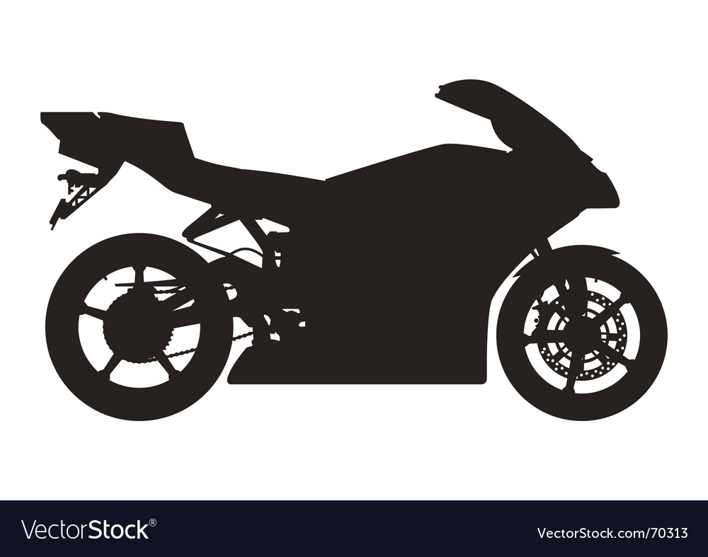 Sport motorcycle silhouette vector | Price: 1 Credit (USD $1)