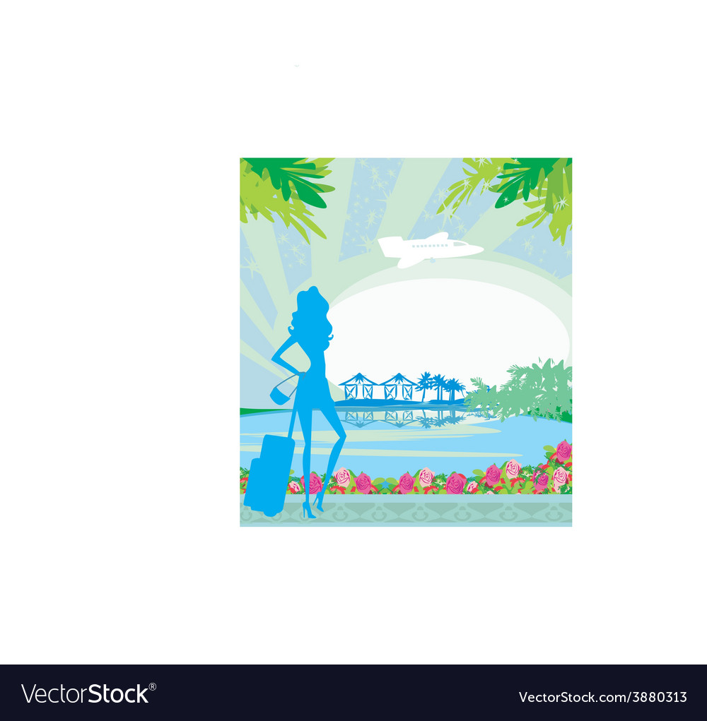 Tourism on a tropical vacation vector   Price: 1 Credit (USD $1)