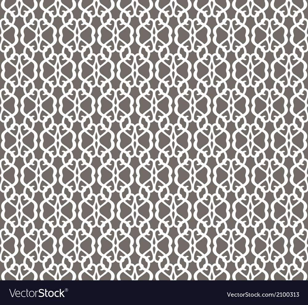 White forged seamless pattern on grey background vector   Price: 1 Credit (USD $1)