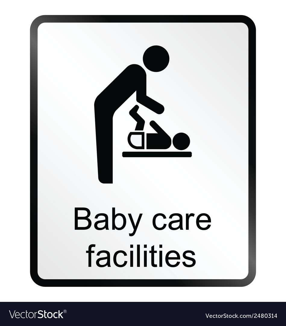 Baby care facilities information sign vector | Price: 1 Credit (USD $1)