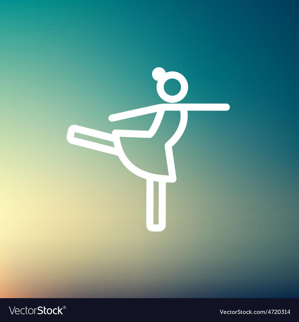 Ballet dancing thin line icon vector | Price: 1 Credit (USD $1)