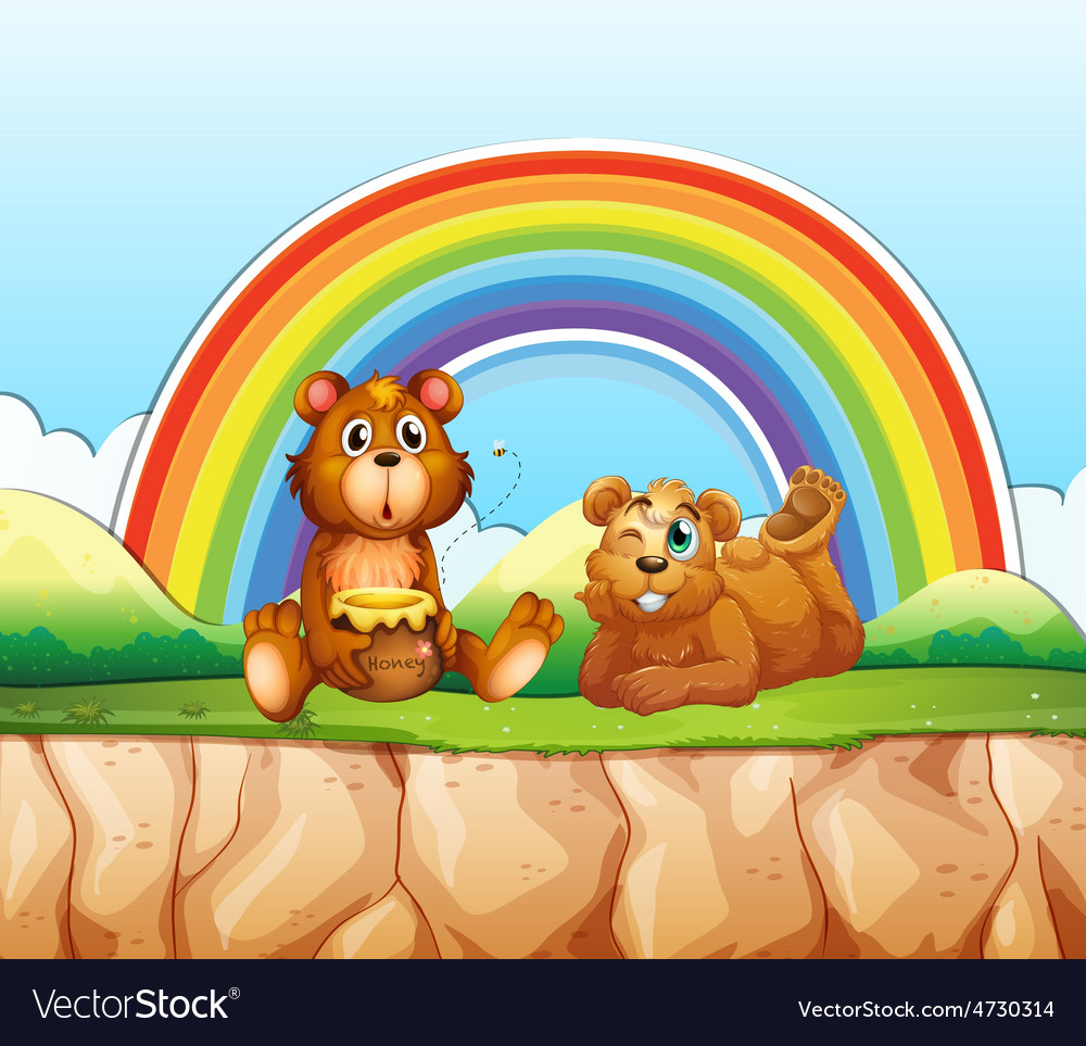Bears and rainbow vector | Price: 3 Credit (USD $3)