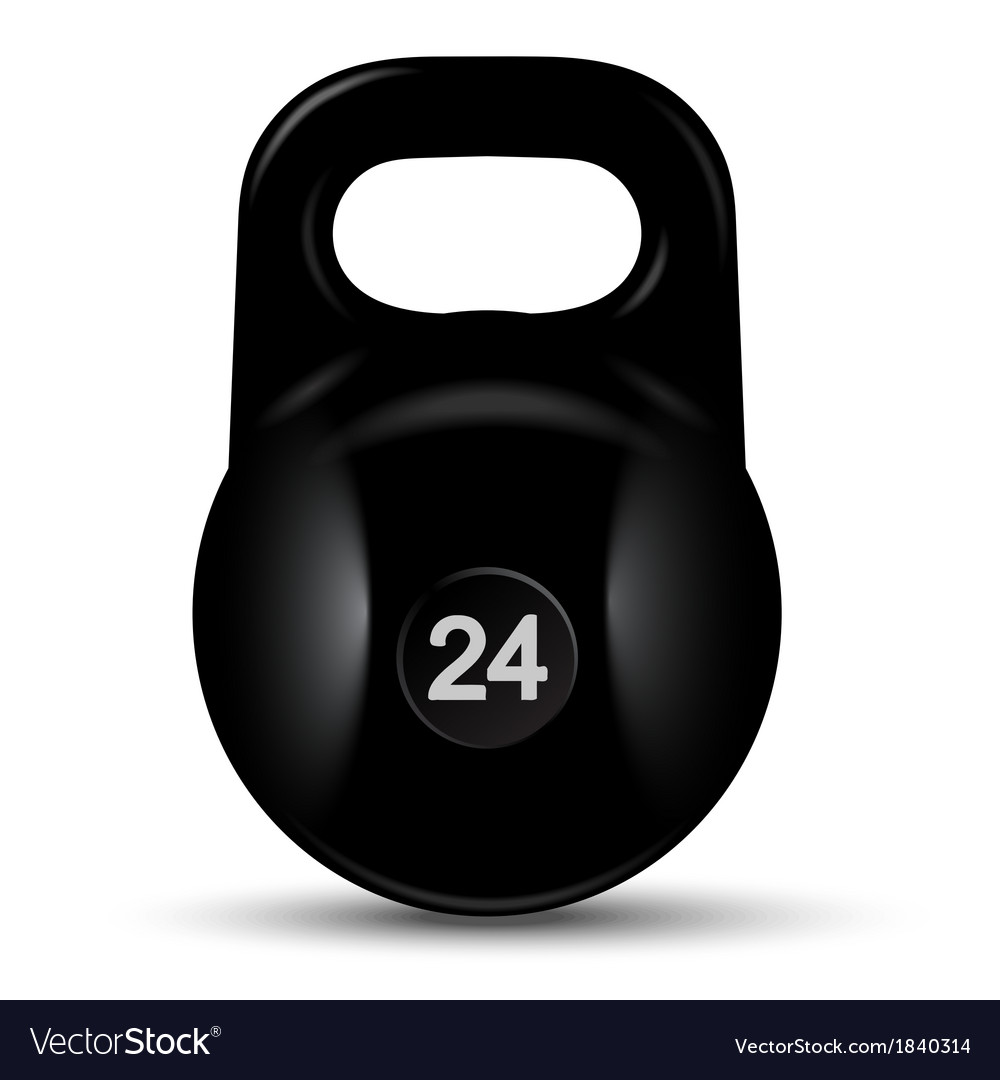 Black cast iron weight vector | Price: 1 Credit (USD $1)