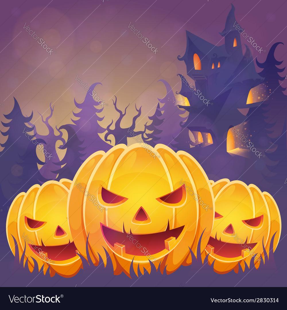 Creepy dark halloween invitation card vector | Price: 1 Credit (USD $1)