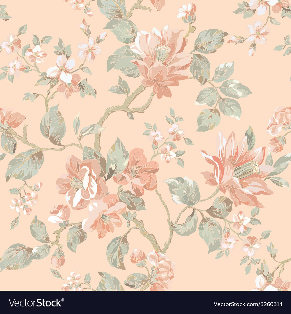 Elegance seamless pattern with flowers roses flor vector | Price: 1 Credit (USD $1)