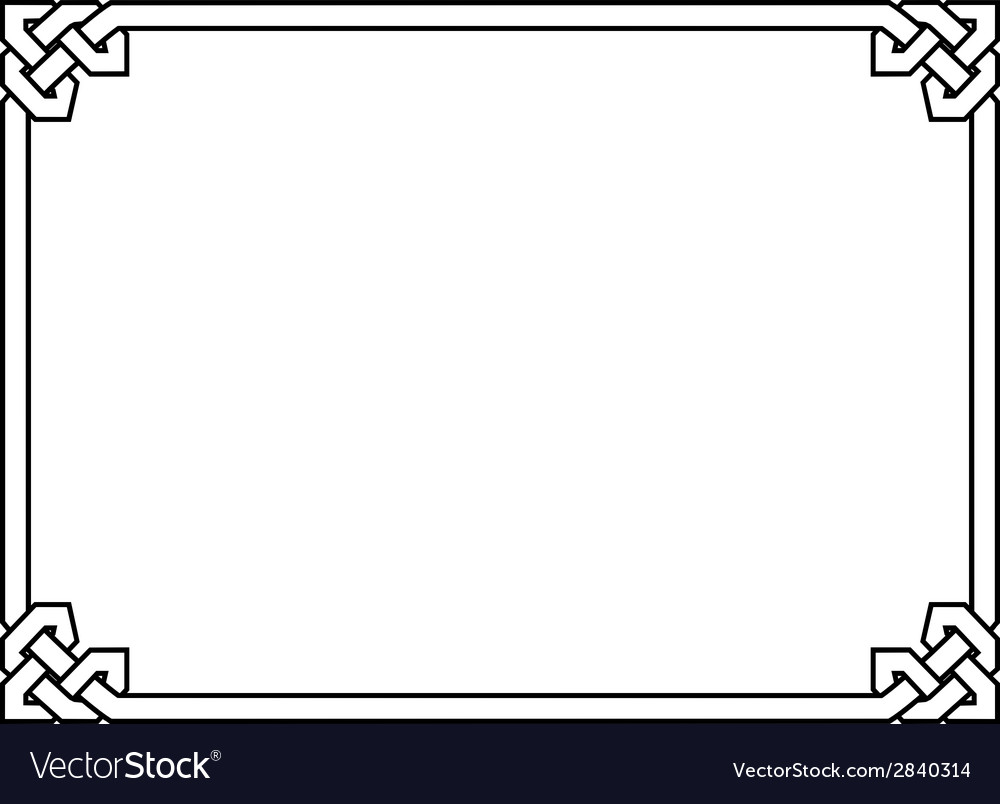 Gothic style black ornamental decorative frame vector | Price: 1 Credit (USD $1)