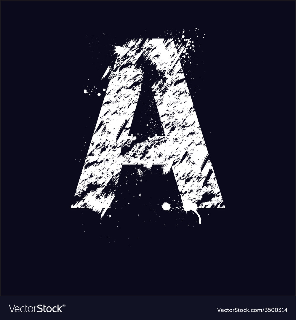 Grunge letter a vector | Price: 1 Credit (USD $1)