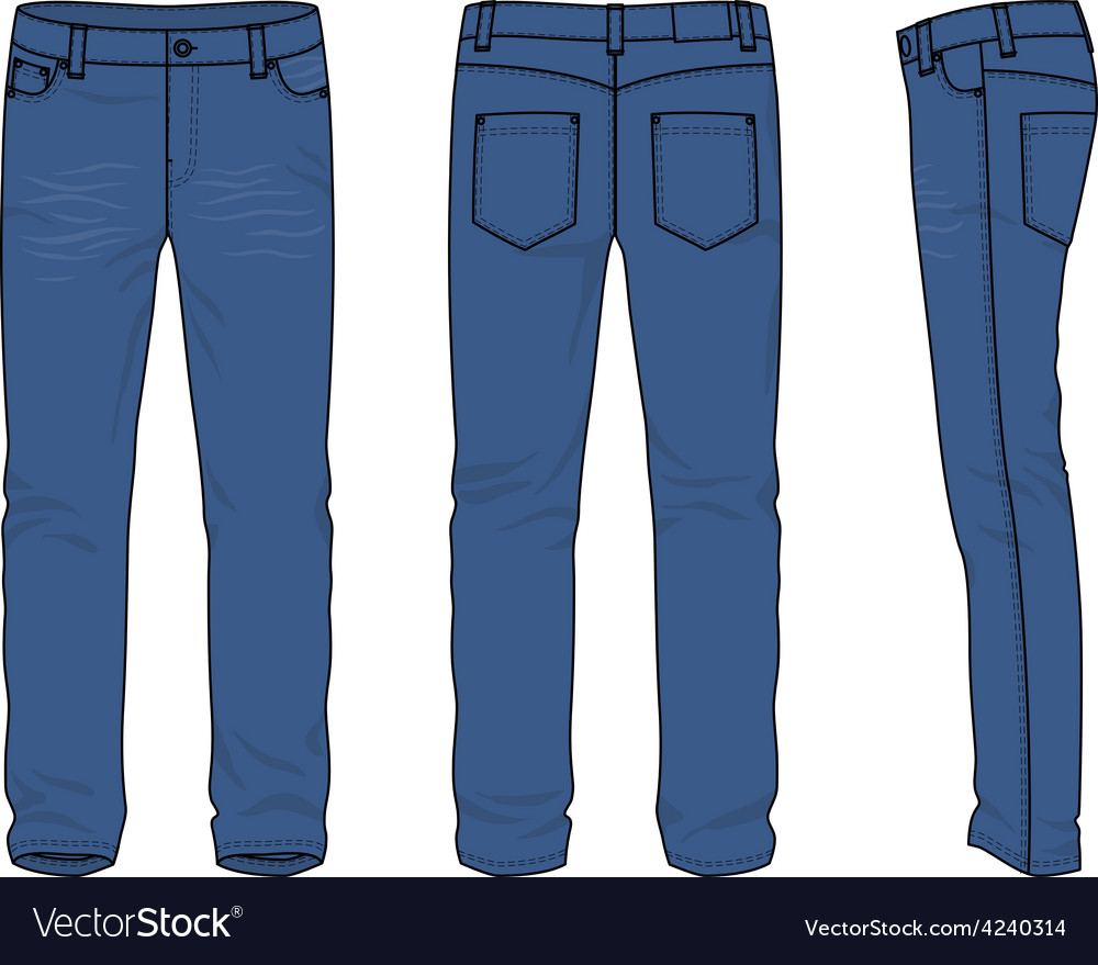 Mens jeans vector | Price: 1 Credit (USD $1)