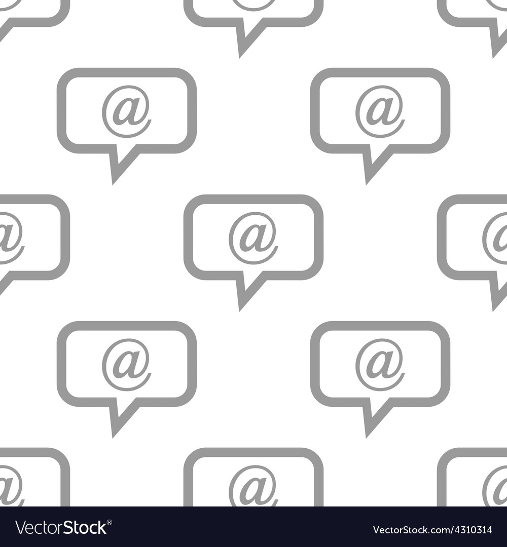 New mail seamless pattern vector | Price: 1 Credit (USD $1)