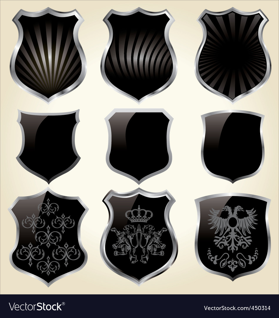 Shields set vector | Price: 1 Credit (USD $1)