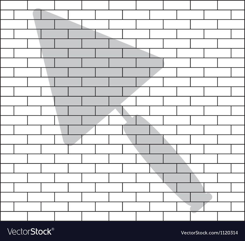 Stencil of brick wall vector | Price: 1 Credit (USD $1)