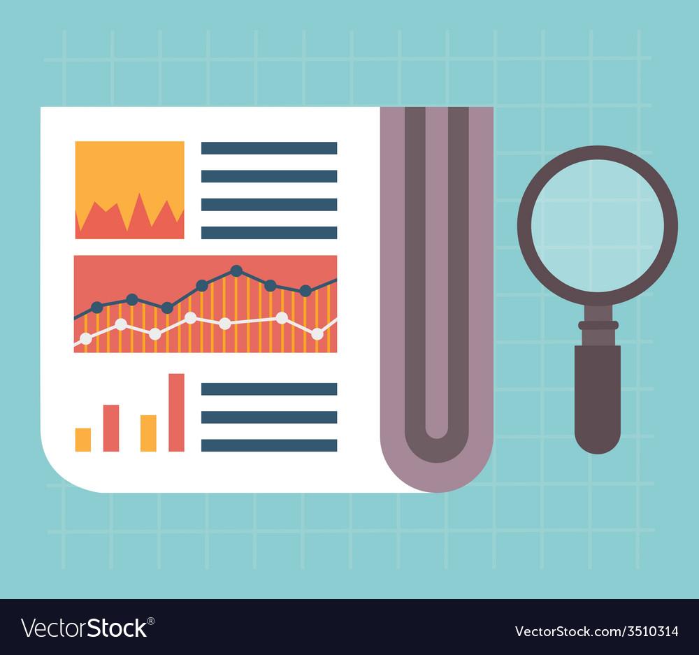 Web analytics information and development website vector | Price: 1 Credit (USD $1)