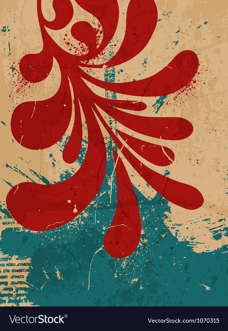 Abstract vintage background with leaf vector   Price: 1 Credit (USD $1)