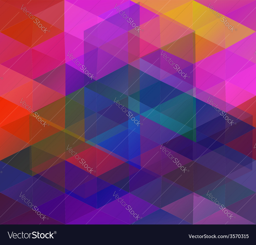 Background with colorful triangles vector | Price: 1 Credit (USD $1)