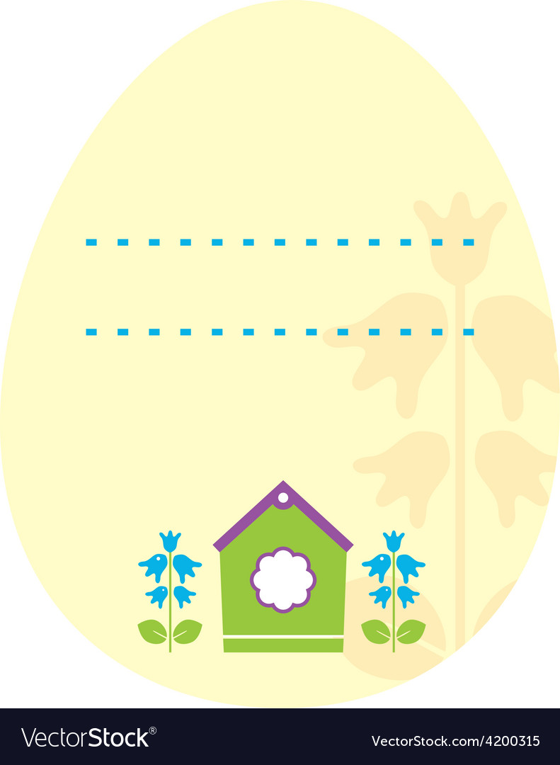 Beautiful easter egg mask with line space vector | Price: 1 Credit (USD $1)