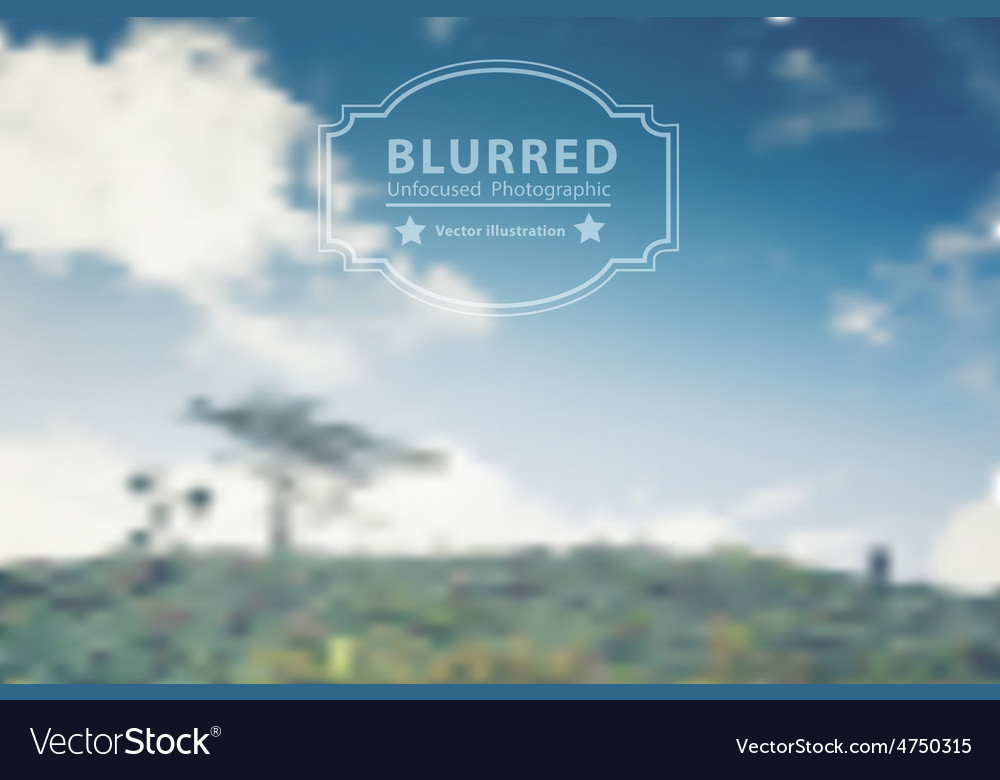 Blurred with landscape mountains and clouds sky vector | Price: 1 Credit (USD $1)