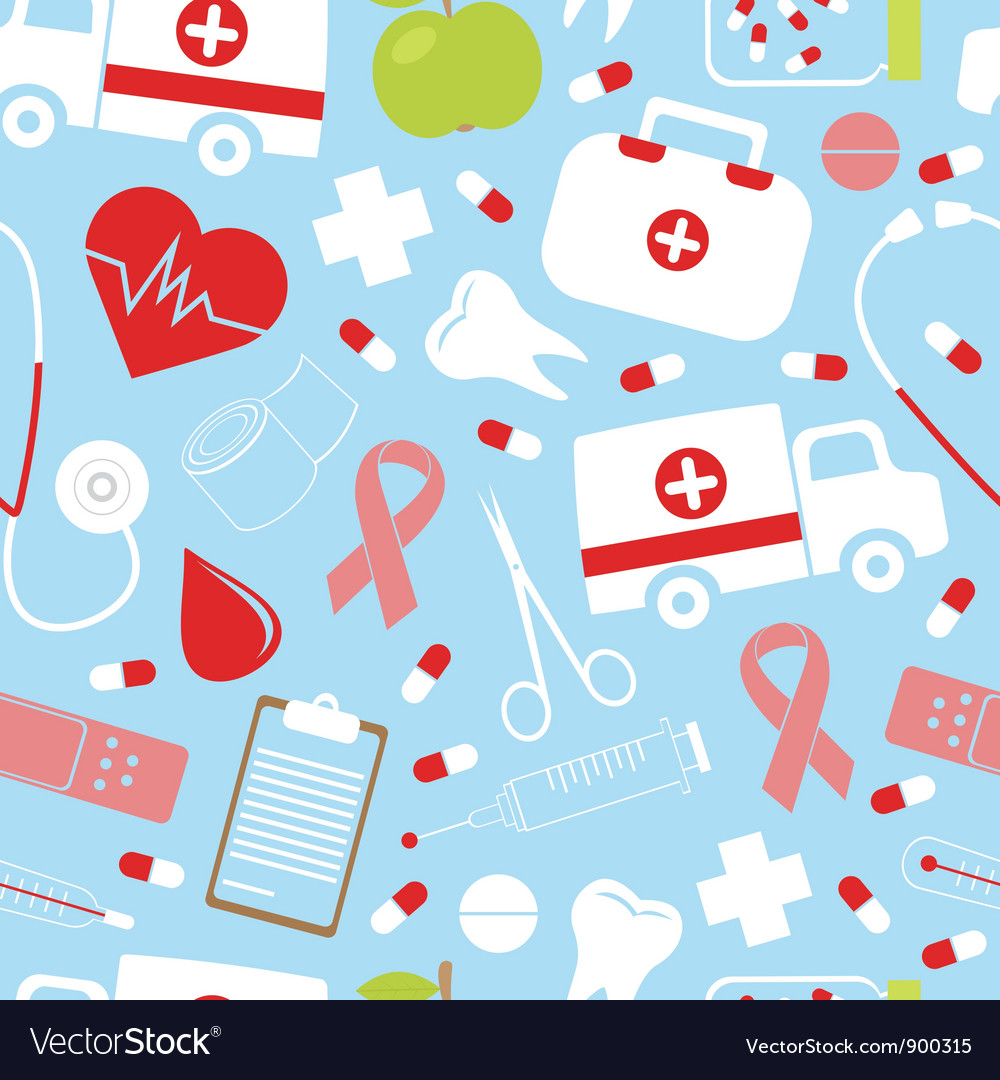 Colorful medical pattern vector | Price: 1 Credit (USD $1)