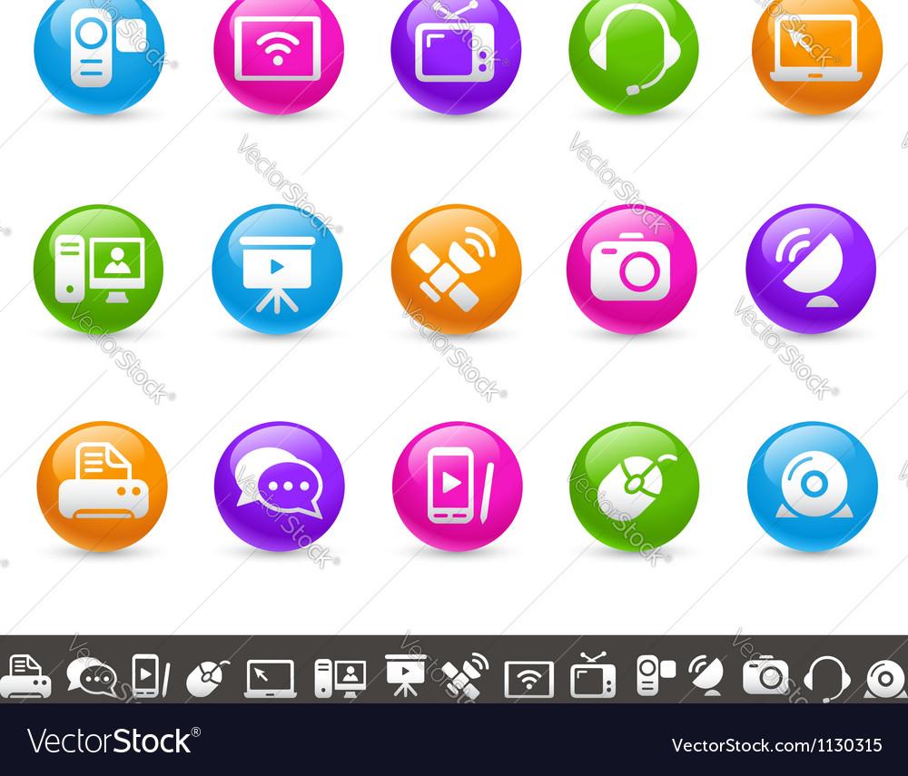 Communication icons rainbow series vector | Price: 1 Credit (USD $1)